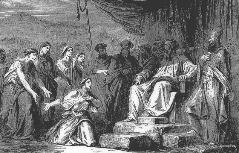 בנות לצפחד|איור: Charles F. Horne and Julius A. Bewer ויקיפדיה