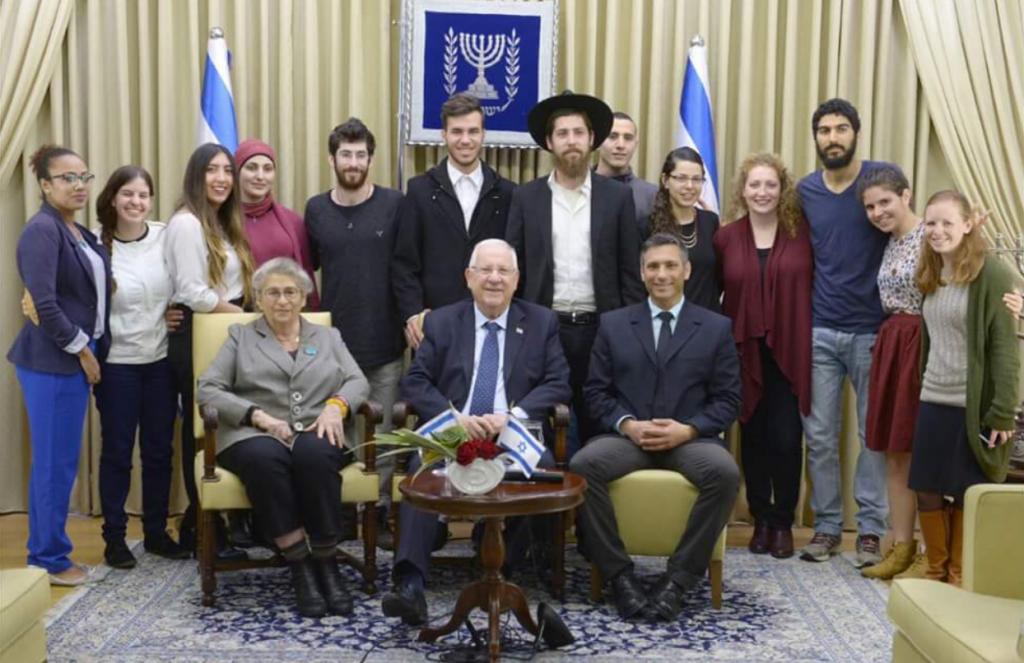 אחי ישראלי בפגישה עם הנשיא ריבלין | מתוך עמוד הפייסבוק